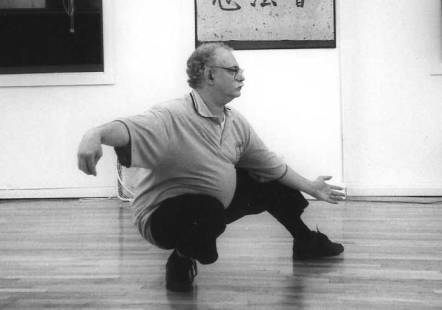 Bill in Tai Chi pose